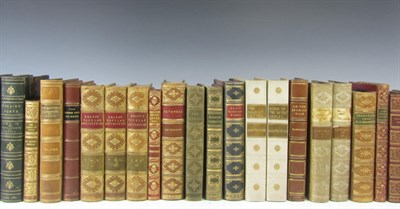 Lot 79 - Leather bindings, 71 volumes, including Thackeray, W.M.
