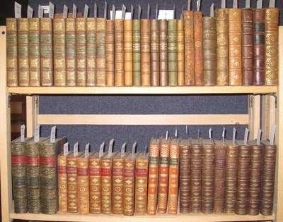 Lot 78 - Leather bindings, 60 volumes, most 12mo,  including Kingsley, Charles