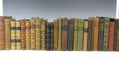 Lot 120 - Leather bindings, 73 volumes, 8vo and 12mo, including Ward, T.H.