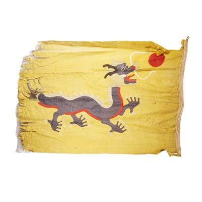 Lot 71 - EMBROIDERED DRAGON FLAG