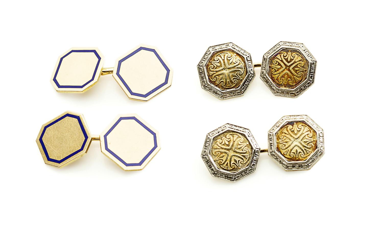 Lot 43-A pair of cufflinks