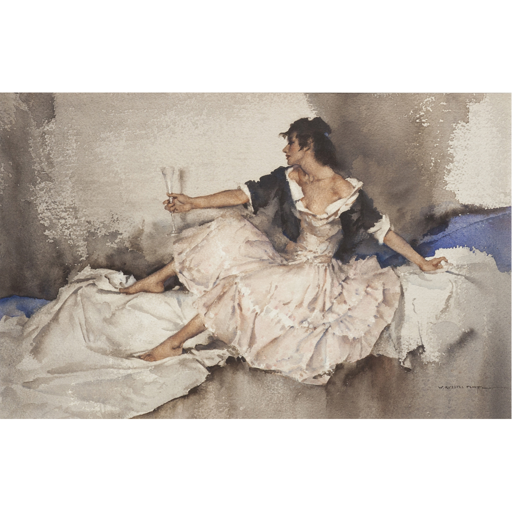 136 - SIR WILLIAM RUSSELL FLINT P.R.A., P.R.W.S., R.S.W., R.O.I., R.E. (SCOTTISH 1880-1969)