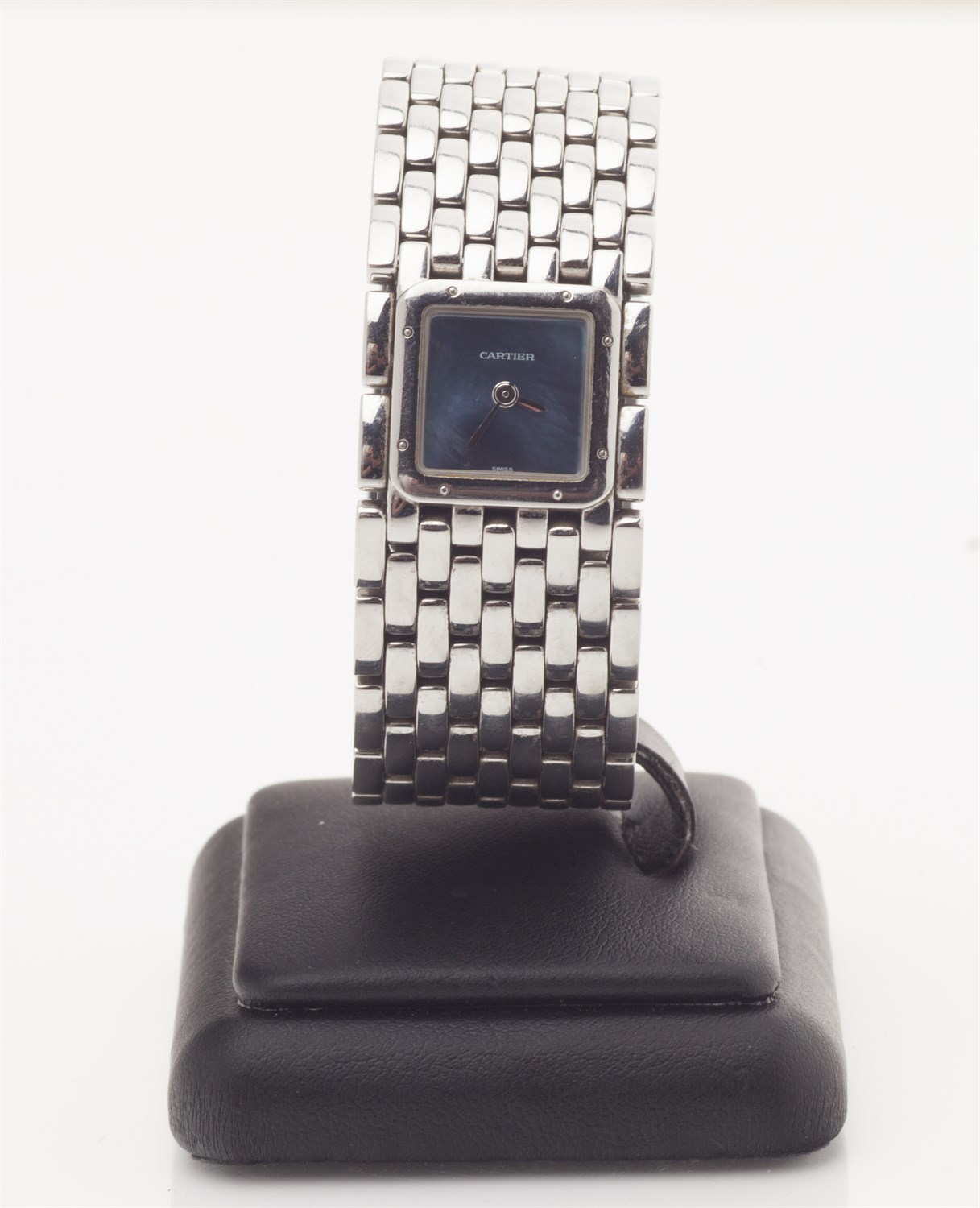 Lot 67-CARTIER - A stainless steel ladies wrist watch