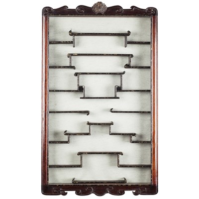 Lot 178 - PAIR OF MAHOGANY SNUFF BOTTLE CABINETS