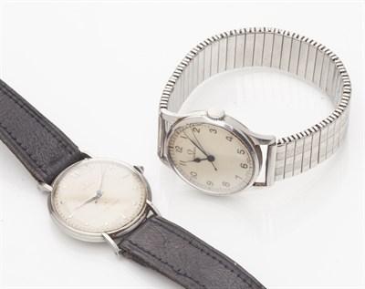 Lot 71-ROLEX - A gentleman's stainless steel cased wrist watch