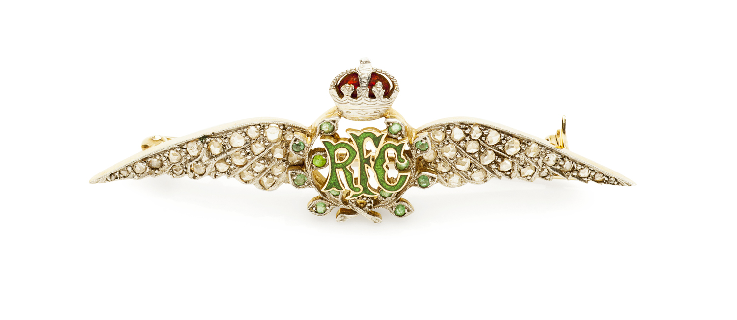 Lot 3-ROYAL FLYING CORPS - An early 20th century officers sweetheart brooch
