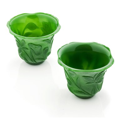 Lot 145 - PAIR OF PEKING GLASS CUPS