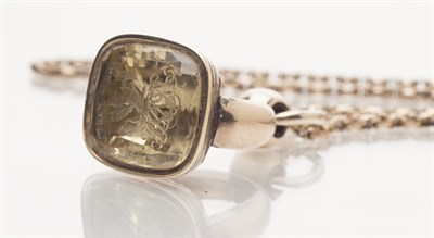 Lot 58-A mid 19th century gold mounted intaglio seal