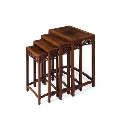 Lot 46 - SET OF HONGMU QUARTETTO TABLES