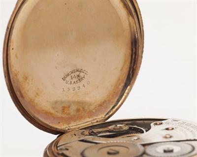 Lot 85-WALTHAM - An American hunter cased pocket watch