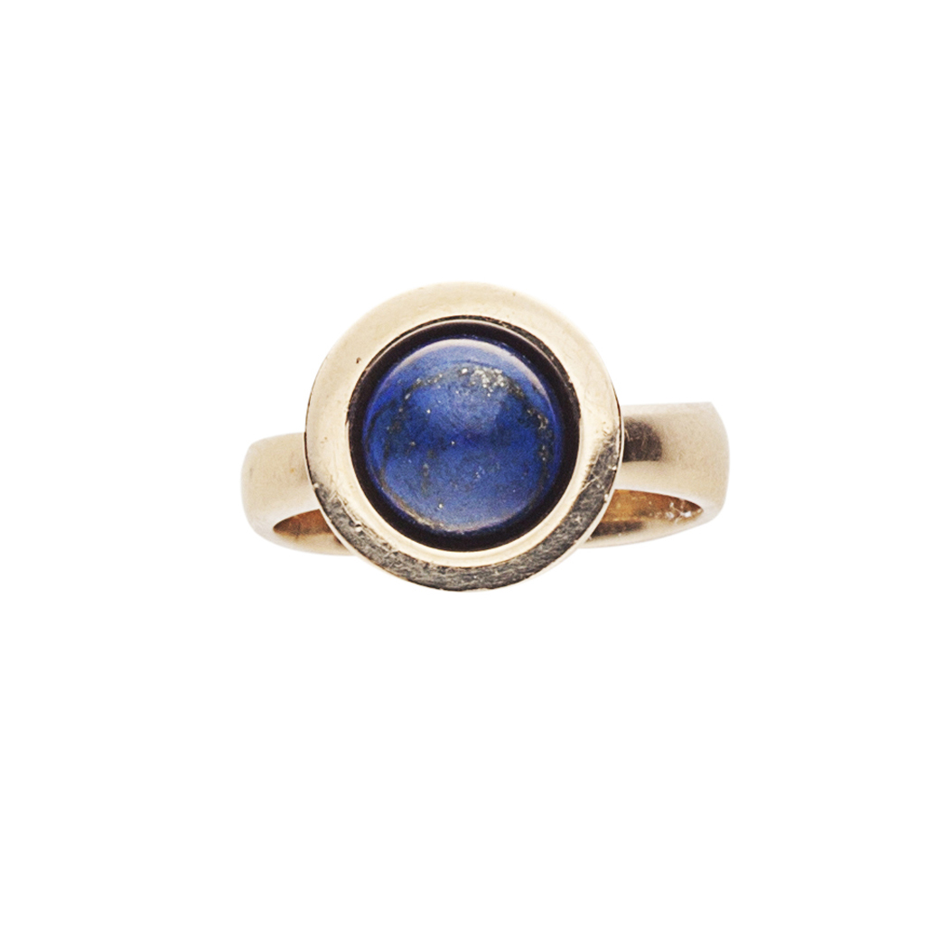 Lot 120 - GEORG JENSEN - A gold and lapis lazuli ring