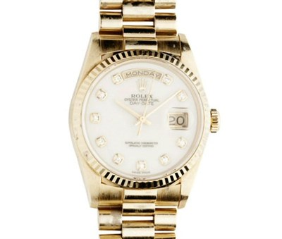 Lot 68-ROLEX - A gentleman's 18ct gold Oyster Perpetual Day Date wrist watch