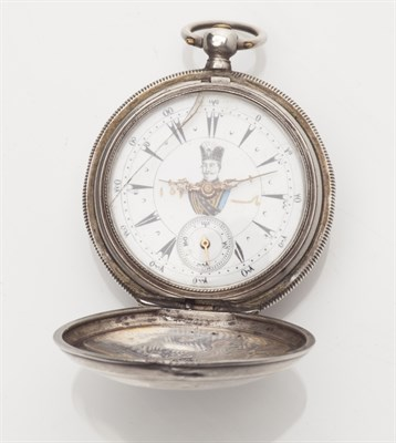 Lot 86-A silver cased key wind pocket watch for the Turkish market