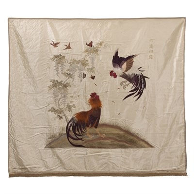 Lot 65 - EMBROIDERED WALL HANGING