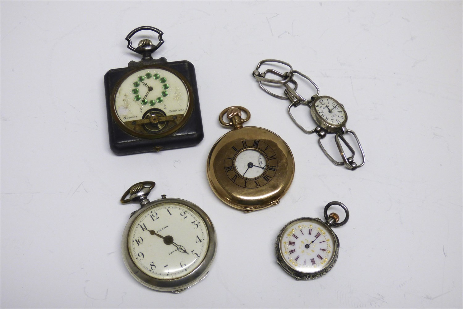 Lot 87-A group of gold, silver and other watches