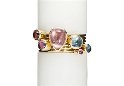Lot 119 - WENDY RAMSHAW - A six part multi-gem ring set