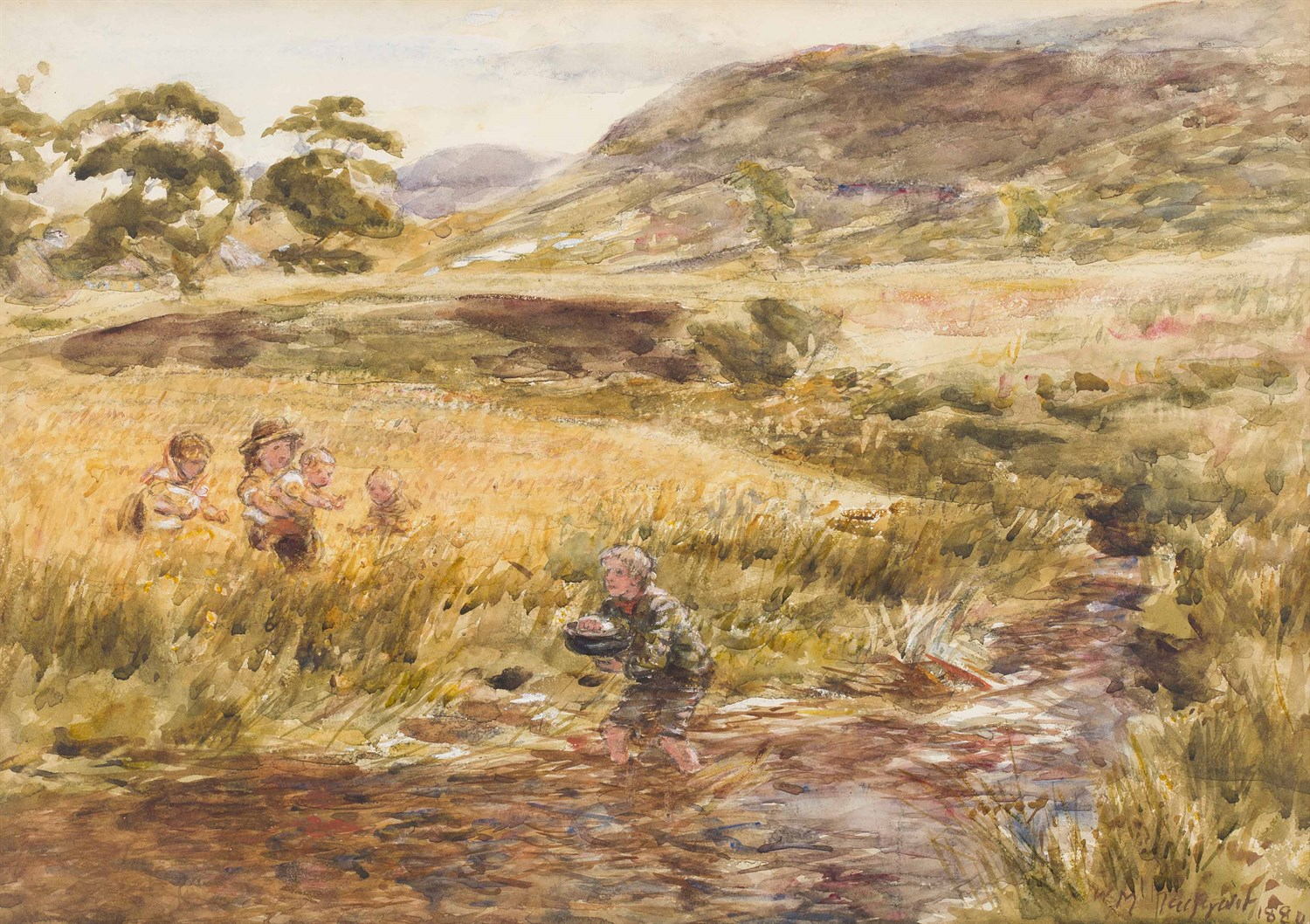 Lot 14-WILLIAM MCTAGGART R.S.A., R.S.W. (SCOTTISH 1835-1910)