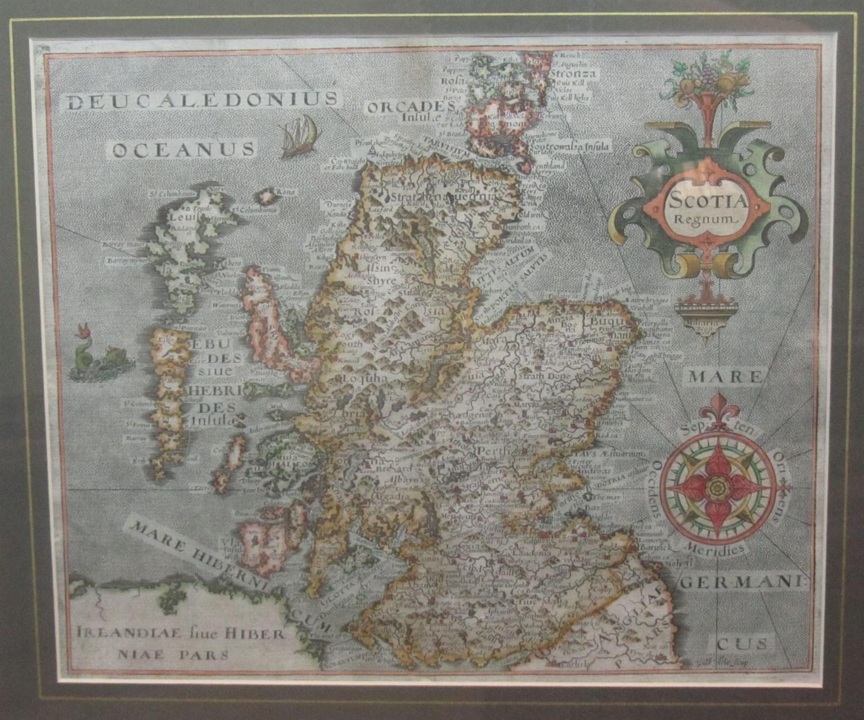 Lot 84 - Scotland & Kent, 2 framed maps