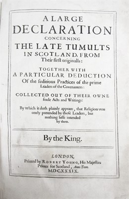 Lot 117 - [Balcanquhall, Walter], for King Charles I