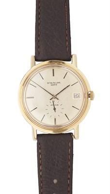 Lot 157 - PATEK PHILIPPE - A gentleman's 18ct gold wrist watch