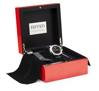 Lot 153 - OFFICINE PANERAI - A gentleman's stainless steel chronograph