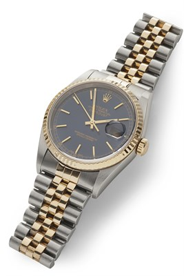 Lot 159 - ROLEX - A gentleman's gold and stainless steel wrist watch