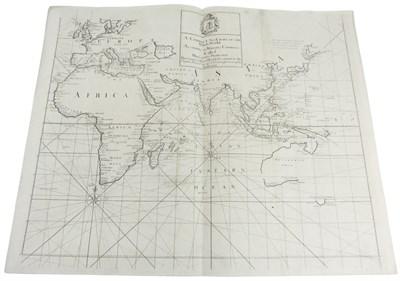 Lot 55 - Cutler, Nathaniel; Halley, Edmund, and John Senex. SALEROOM NOTICE: LACKS W. SHEET OF MAP