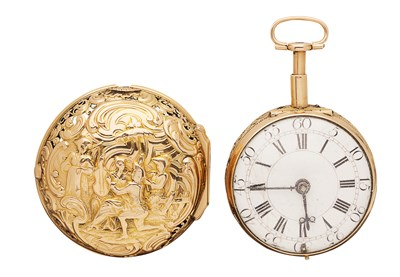 Lot 165 - DRAKE LONDON - A pair cased repeater pocket watch