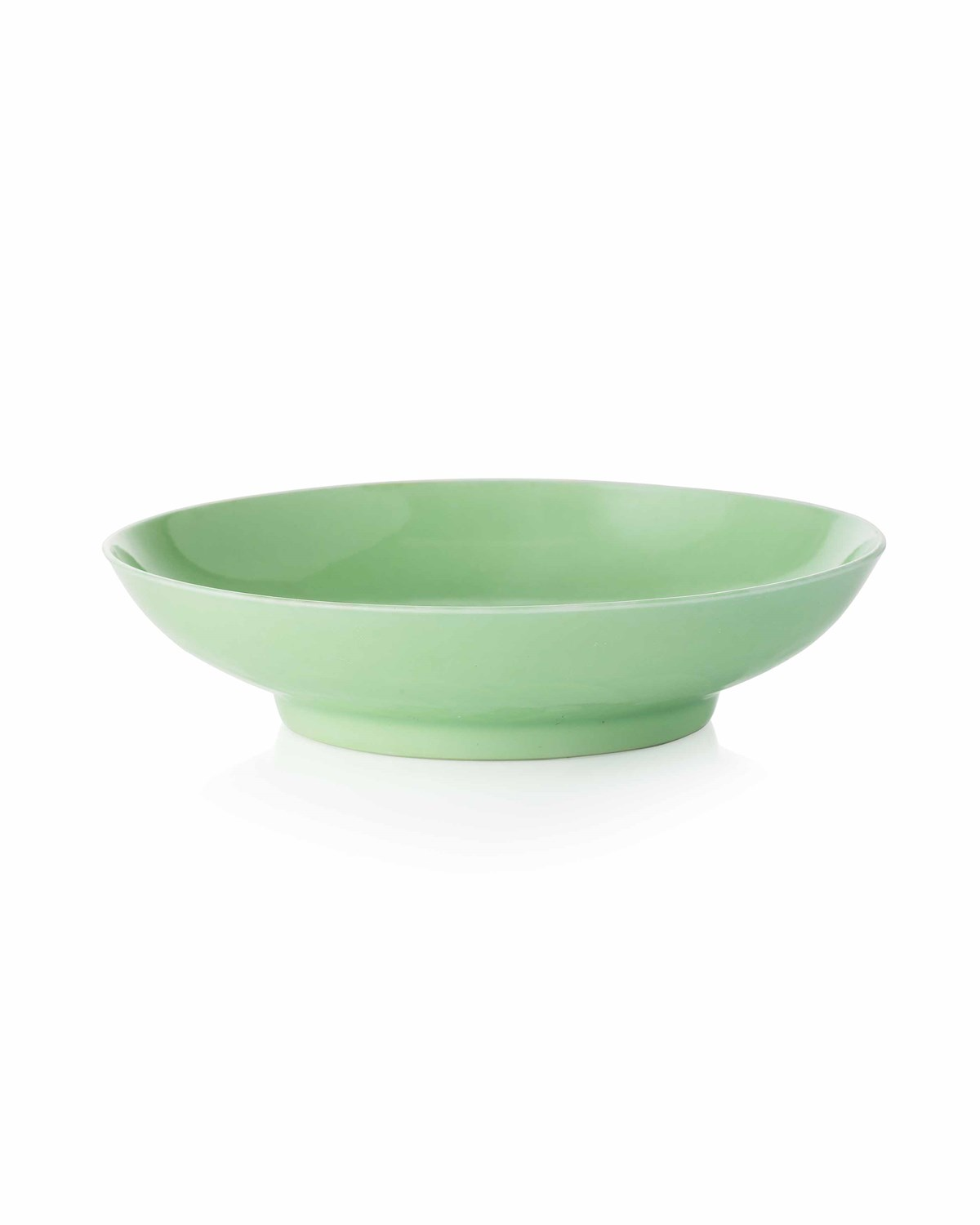 Lot 719 - INCISED LIME GREEN IMPERIAL SAUCER DISH