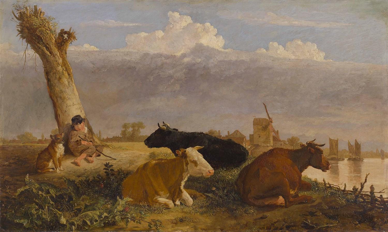 Lot 5-JOHN BURNET H.R.S.A. (SCOTTISH 1784-1868)