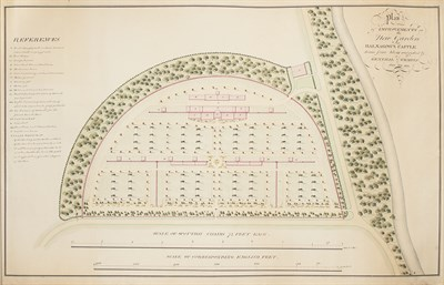 Lot 72 - Hay, John, (1758-1836, horticulturalist & garden designer) - Balnagown Castle - watercolour and manuscript plan