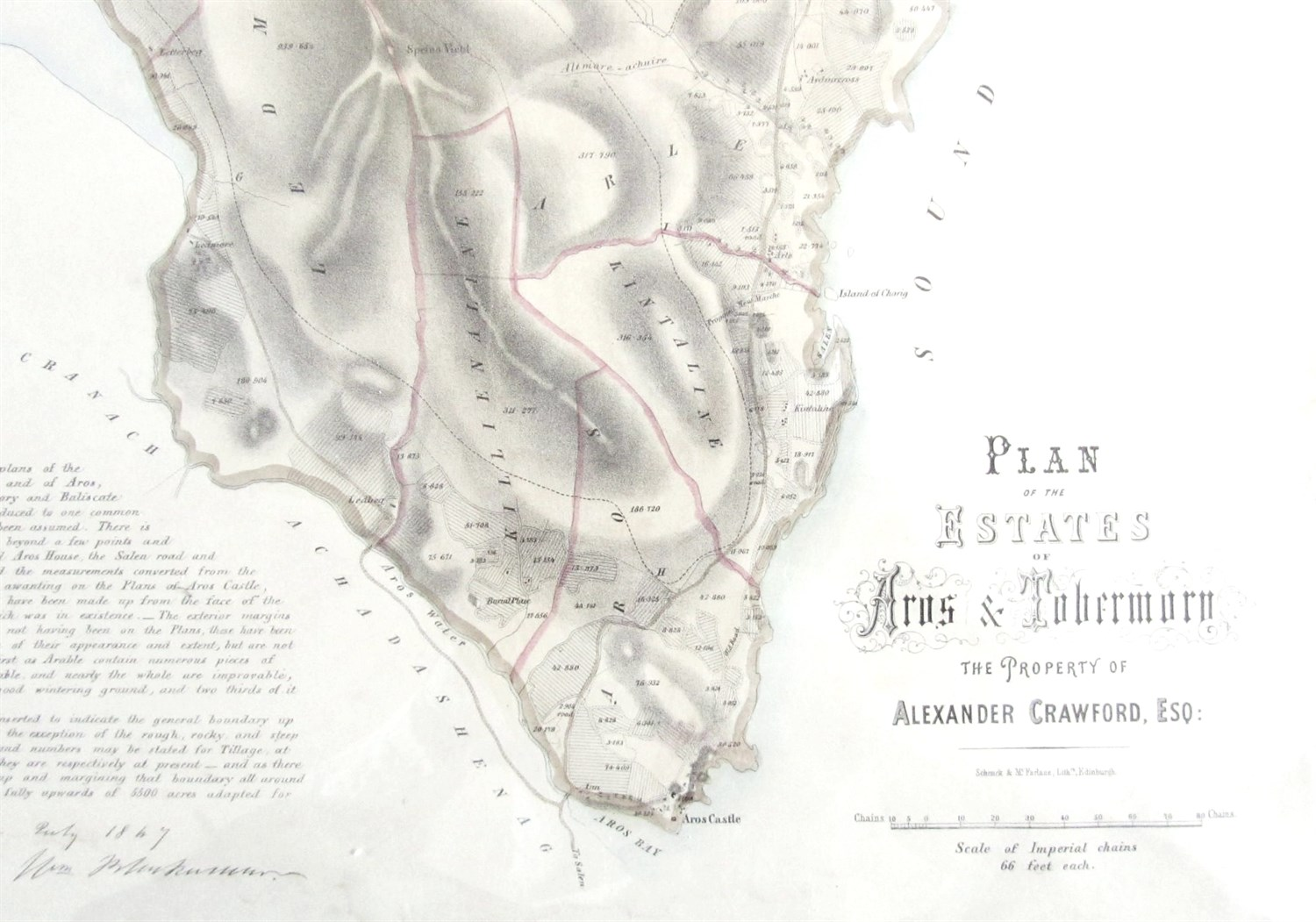 Lot 74 - Isle of Mull - Aros and Tobermory - Estate plan by William Blackman [?]