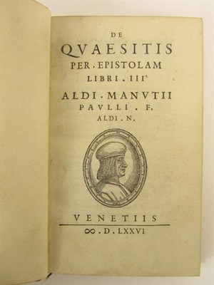 Lot 112 - Manutius, Aldus, the Younger