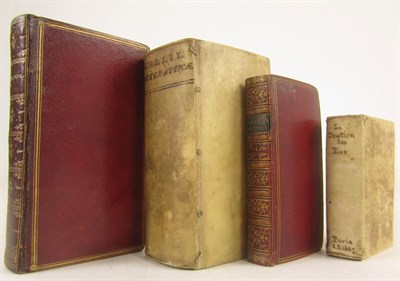Lot 106 - Four 17th century books, 2 in red morocco, including Veratius, J.