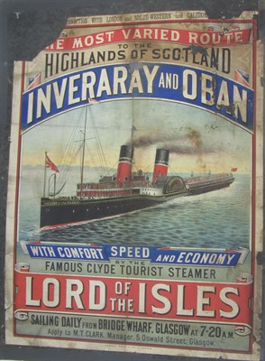 Lot 51 - Clyde, Glasgow: London & North-Western & Caledonian Railways, 2 travel posters