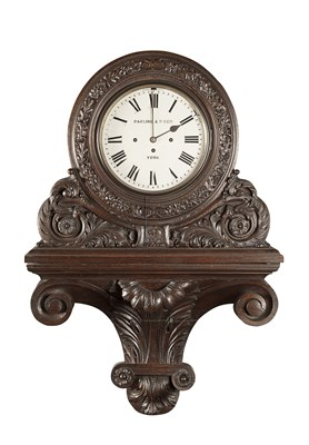 Lot 25 - VICTORIAN STAINED OAK BRACKET CLOCK AND...