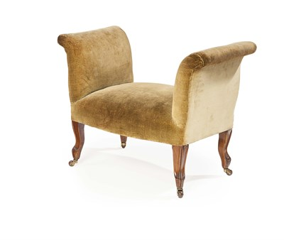 Lot 44 - VICTORIAN UPHOLSTERED AND WALNUT FRAMED WINDOW...