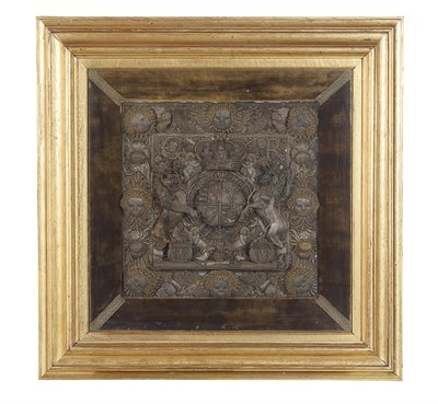 Lot 49 - PETER KING'S LORD CHANCELLOR'S PURSE: A METAL...