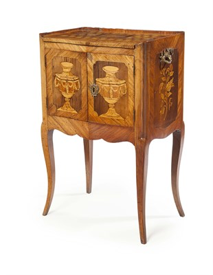 Lot 59 - FRENCH LOUIS XV KINGWOOD, PARQUETRY AND...
