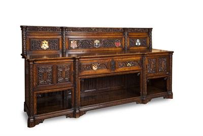 Lot 104 - VICTORIAN OAK AND PAINTED SIDEBOARD MANNER OF...