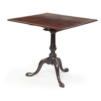 Lot 46 - GEORGE III MAHOGANY TILT TOP OCCASIONAL TABLE