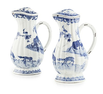 Lot 51 - PAIR OF CHINESE EXPORT BLUE AND WHITE...