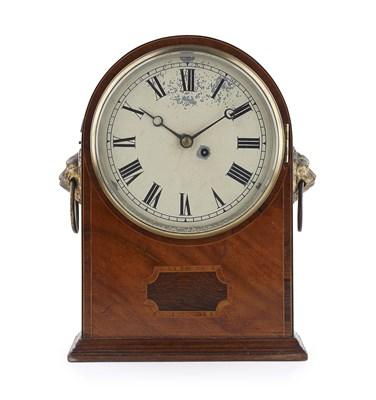 Lot 62 - REGENCY MAHOGANY BRACKET CLOCK EARLY 19TH...