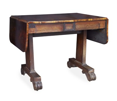 Lot 48 - REGENCY ROSEWOOD SOFA TABLE EARLY 19TH CENTURY...