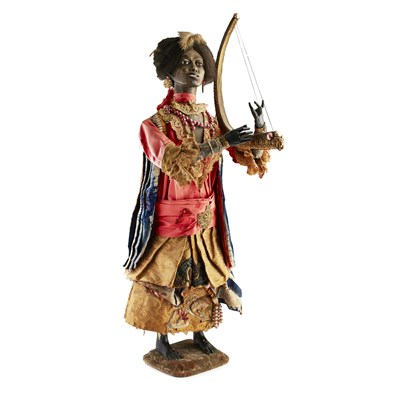 Lot 544 - RARE MUSICAL AUTOMATON 'THE HARPIST', BY GUSTAVE VICHY