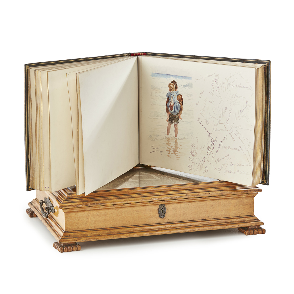Lot 23-Visitor Book for the Yacht 'Thistle'