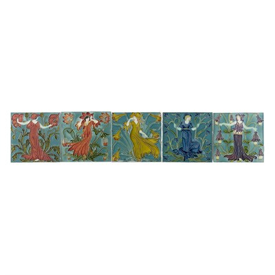 Lot 23 - WALTER CRANE (1845-1915)  FOR PILKINGTON'S TILE AND POTTERY COMPANY