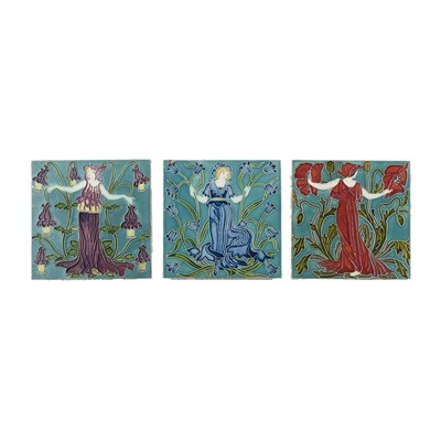 Lot 24 - WALTER CRANE (1845-1915)  FOR PILKINGTON'S TILE AND POTTERY COMPANY