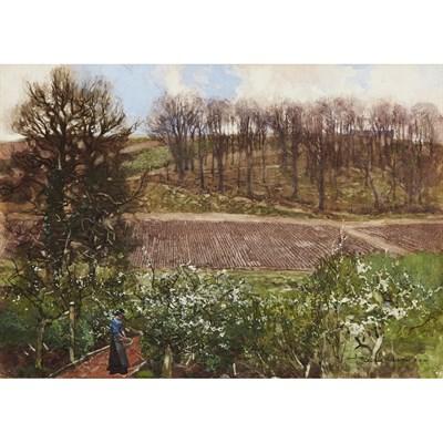 Lot 80 - GEORGE HOUSTON R.S.A., R.S.W., R.I. (SCOTTISH 1869-1947)