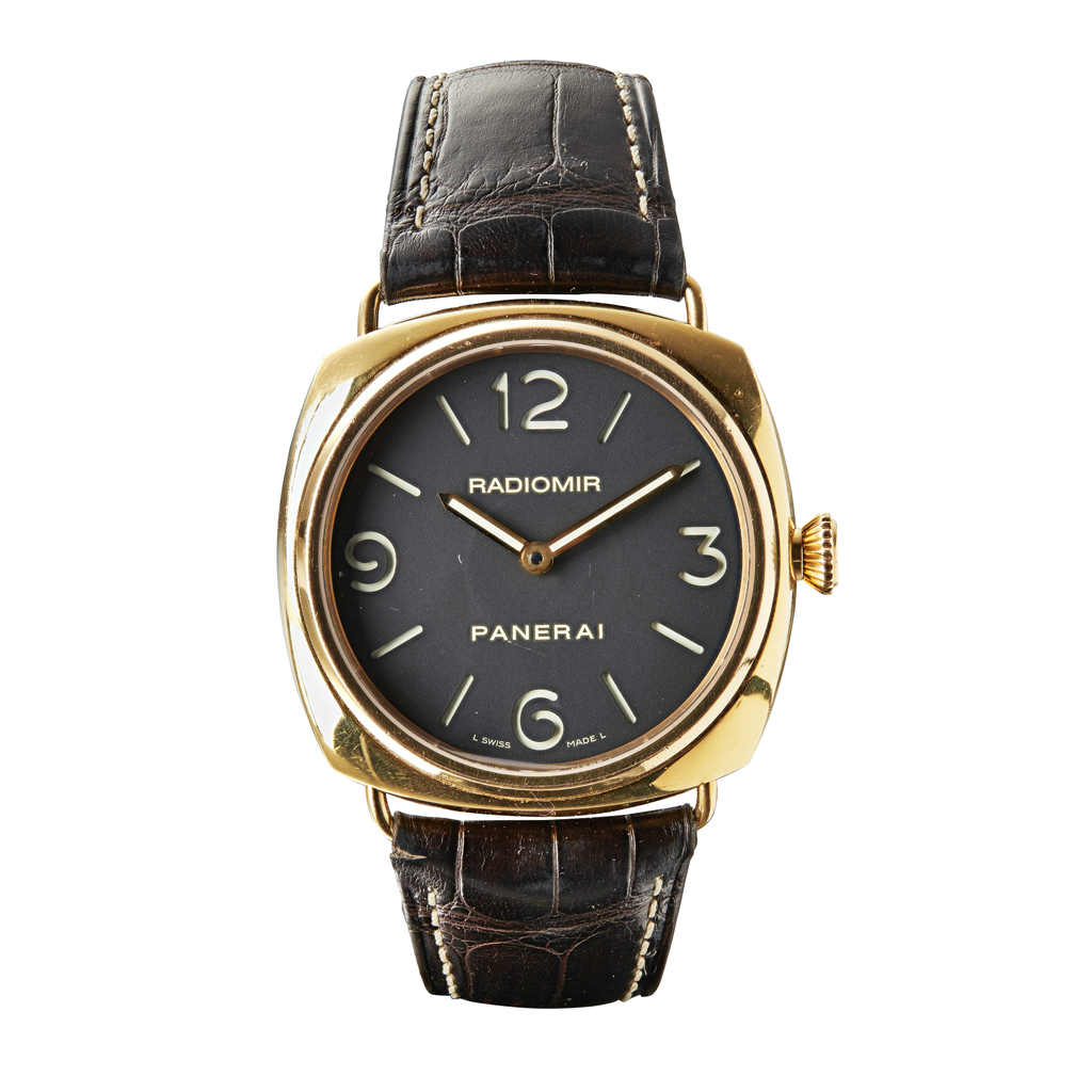 109 - PANERAI - A gentleman's 18ct rose gold wrist watch